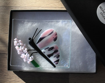Soap Dish / Spoon Rest - Butterfly on Flower