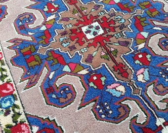 "Turkish Oushak Rug,Anatolian Carpet,Turkish Rug,Tribal Rug Large,Anatolian Rug,Bohemian Rug,Old Carpet,Faded Old Rug Vintage 7'4"" x 4'3""ft"