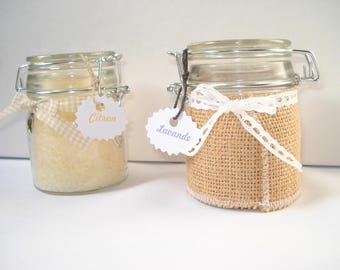 Bath salts - lavender and lemon essential oils