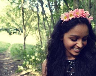 Sale!!! Alice Pink Daisy Flower Headband