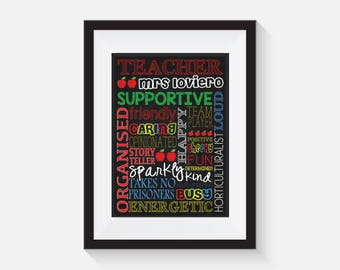 Teacher Appreciation, Coach Appreciation Thank you Gift - Personalised, Teacher Gift, Classroom sign, PRINTABLE FILE 8X10