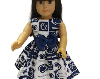 18 inch Doll dress Penn State doll dress  Made to fit all dolls like American Girl 18 inch doll clothes Penn State  doll dress