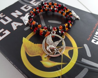 Hunger Games Inspired Memory Wire Charm Bracelet