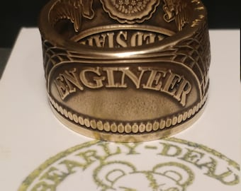 Army Engineers Challenge coin ring