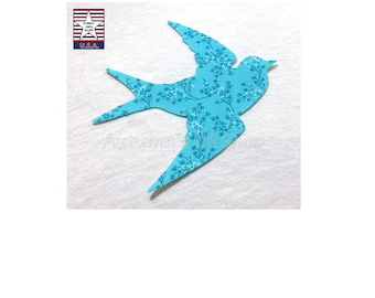 Iron On Bird Applique, Bird Iron On, Iron On Baby Applique, Quilting Appliques, Fussy Cuts, Quilt Iron On, Mug Rug Applique, NO SEW