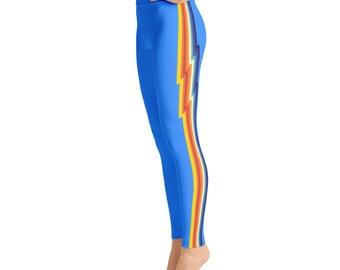 Rainbow Lightening Prnt Yoga Leggings