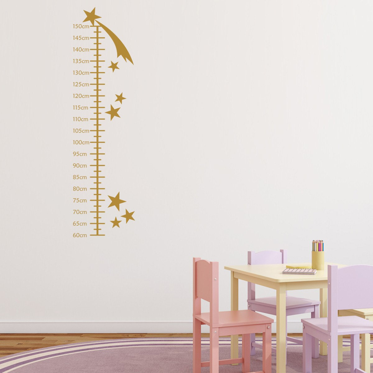 Shooting stars growth chart for children wall sticker height description make measuring your little childs height fun with our shooting stars growth chart wall sticker geenschuldenfo Image collections