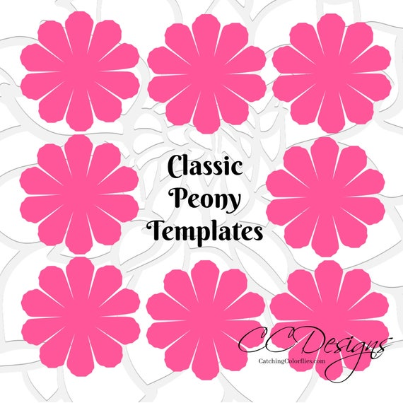 Paper peony patterns tutorial peony paper flowers paper peony patterns tutorial peony paper flowers printable flower templates svg cut files baby shower decor bridal shower decor mightylinksfo Gallery