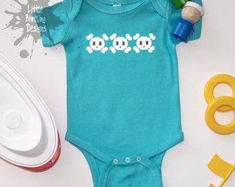 baby bodysuit - skull row