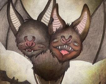 Halloween Series Art Print: Bats