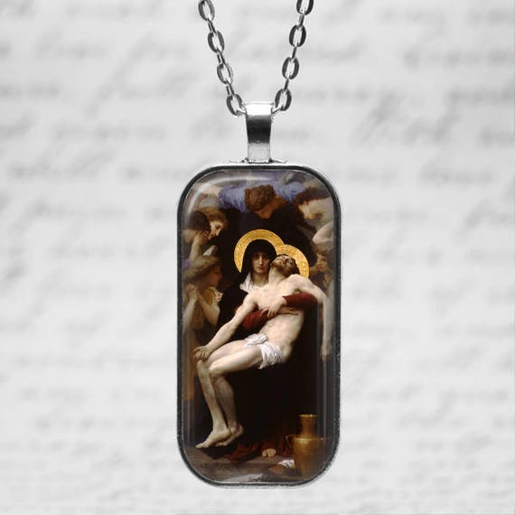 Our Lord Jesus Christ with Mary Necklace  including 18 or 24 inch chain - Christian Catholic Medal Pendant