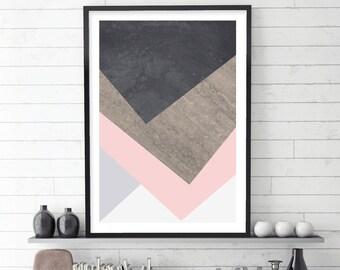 Scandi Print, Scandinavian Print, Scandinavian Art, Scandinavian Modern, Geometric Print, Geometric Art, Minimalist, Nordic, Downloadable