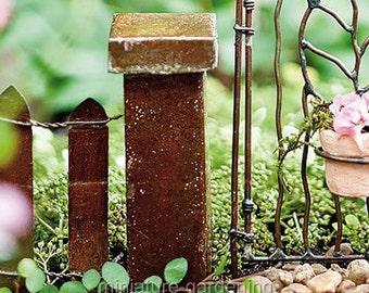 Antiqued Column for Miniature Garden, Fairy Garden