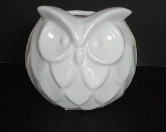 White Owl Planter Ceramic
