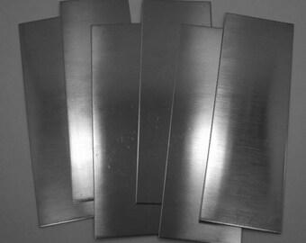 "Nickel Silver Sheet / Bracelet Blanks 20ga 6"" x 2"" .81mm Thick Pkg Of 6  New Lower Price"