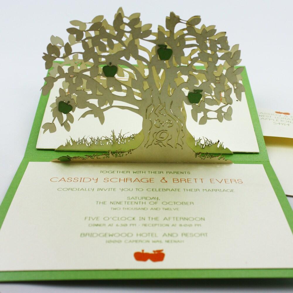Pop-up cards apple tree
