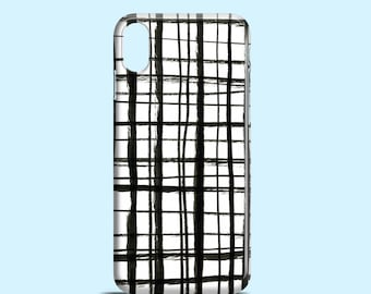 Plaid Doodles phone case / iPhone X, tartan iPhone 7, iPhone 8, iPhone 7 Plus, doodle iPhone 6S, iPhone 6, iPhone 5/5S/SE, Samsung Galaxy S7