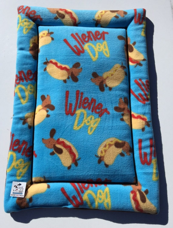 Dachshund Bed, Large Crate Pad, Doxie Dog Bed, Wiener Dog Fabric, Weenie Dog Bed, Crate Cover, Kennel Bed, Dachshund Fabric, Dachshund Gifts