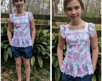 Jean Short Floral Set