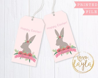 Easter gift tags 3 tags personalized easter basket tag easter printable tag easter gifts easter tags easter tags printable easter gift negle Choice Image