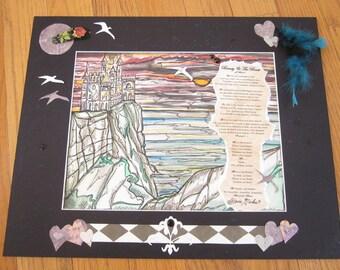 DREAMS UNWIND, Stevie Nicks, Watercolor, Original art, collage art, Gypsy, Music, Song, collage, dreamer, poem, poetry, Magic, Painting