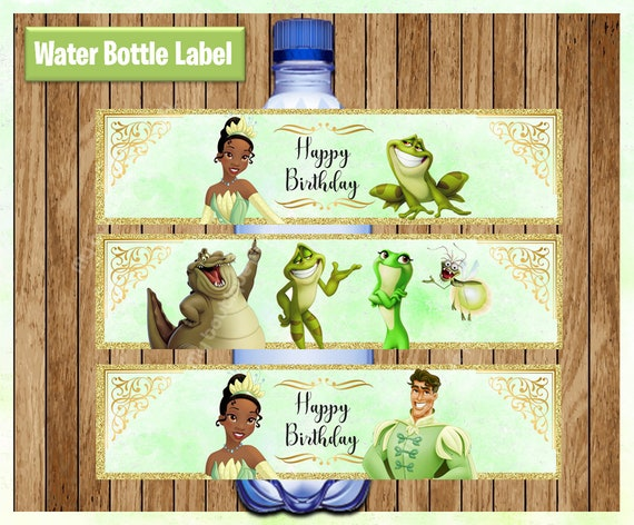 Princess And The Frog Printable Water Bottle Labels