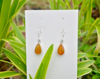 Drop Earrings/ Sterling Silver/ Agate Stone
