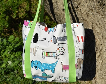 Large Dachshund White Beach Bag Tote Bag