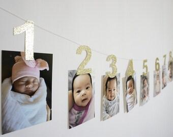 1st birthday photo banner, first birthday banner, photo banner, babys first birthday, first birthday photo banner, birthday banner