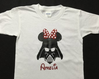 Girl Darth Vader Shirt youth/infant