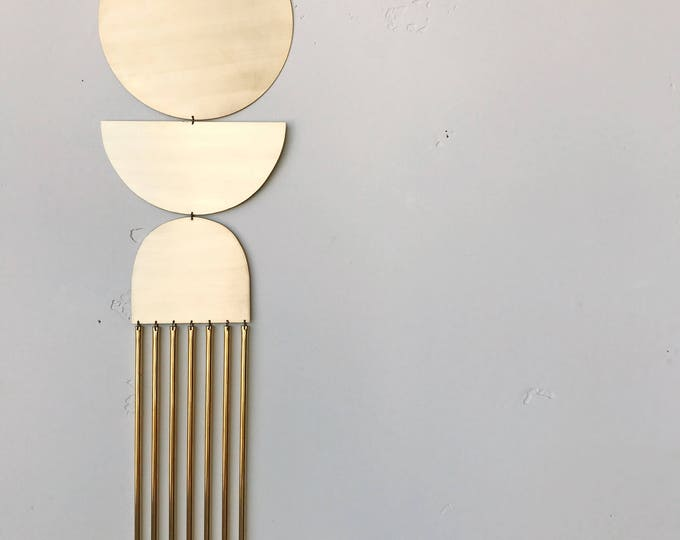 """Brass Wall Hanging - """"here comes the sun"""" - made-to-order - 2 week turnaround time"""