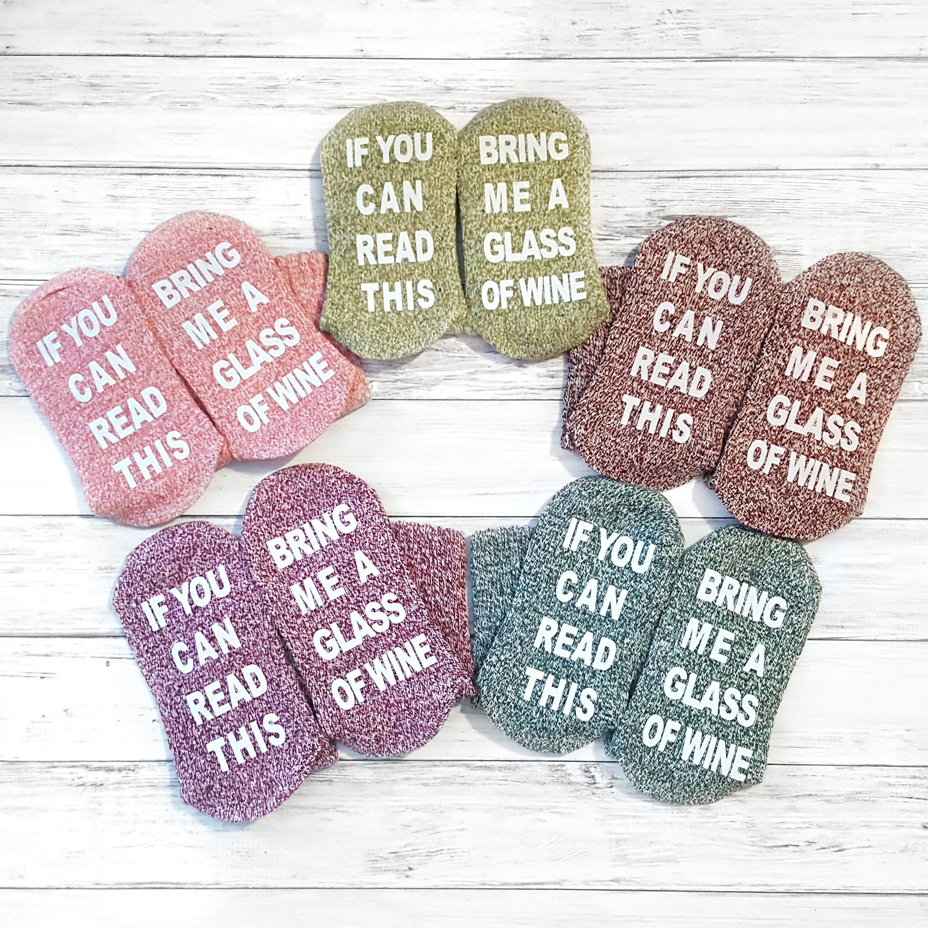 Gift ideas for wives etsy wine socks 21st birthday gift ideas if you can read this bring me a negle Images