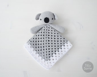 Koala Bear Lovey Pattern | Security Blanket | Crochet Lovey | Baby Lovey Toy | Blanket Toy | Lovey Blanket PDF Crochet Pattern