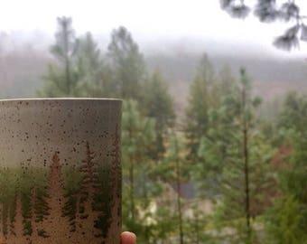 Pine Tree Ceramic Tumbler