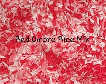 Dyed Rice - Red Ombre