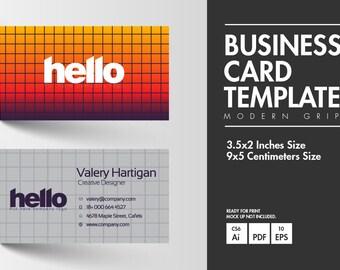 Business Card - Modern Grip