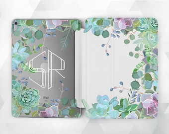 Floral Custom iPad Case Smart Cover iPad Monogram iPad Air iPad Mini Case iPad Pro 9.7 Floral iPad Air  iPad Mini iPad Pro Clear Floral Case
