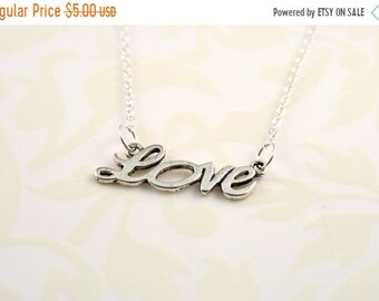 20%OFF SALE SALE-Love Charm Necklace-Was 10 Now 5