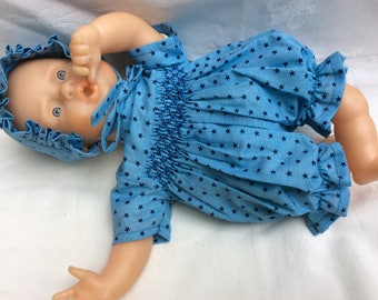 clothing doll Frou Frou fabric smocked romper