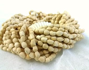 5x5mm (avg.) Natural Wood Beads, 100 piece strands, 10 strands