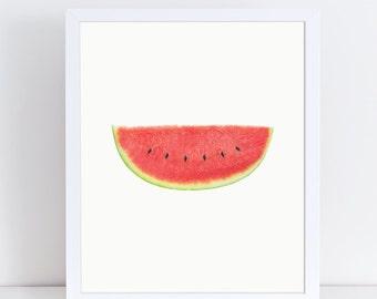 Watermelon Print, Fruit Poster, Minimalist Wall Decor, Modern Wall Art, Large Wall Art, Watermelon Poster, Kitchen Decor, Vegetable Download
