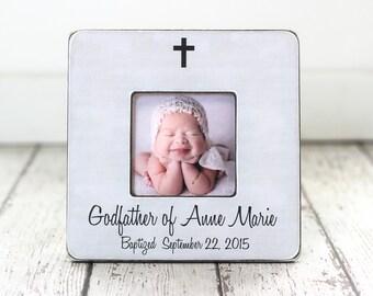 Godfather GIFT for Baptism Personalized Picture Frame Godparents Godmother God Child Baptism Gift