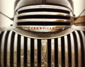 Chevy pick up grill- Antique-11x14