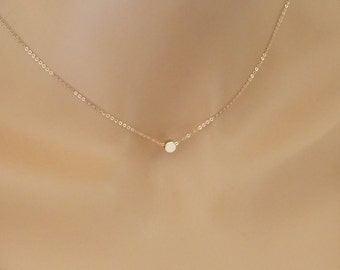 Dainty personalized initial necklace, Friendship jewelry, Bridesmaid meaningful gift, Rose Gold circle Necklace