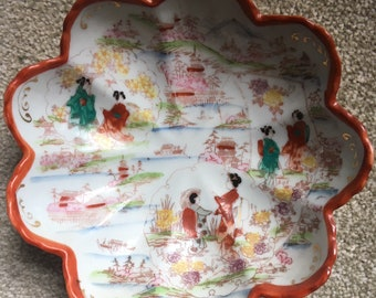 Vintage Hand Painted Chinese Porcelain Bowl