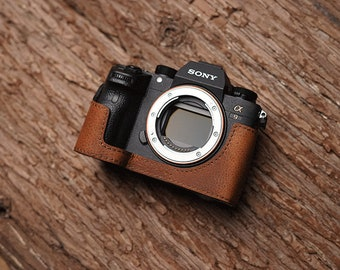 MS Edition Handmade Genuine Leather hand crafted hand stitch Sony A9 a7Riii A7RM3 mark 3 A7RM3 A7R3 Camera Half cases insert bag Protector