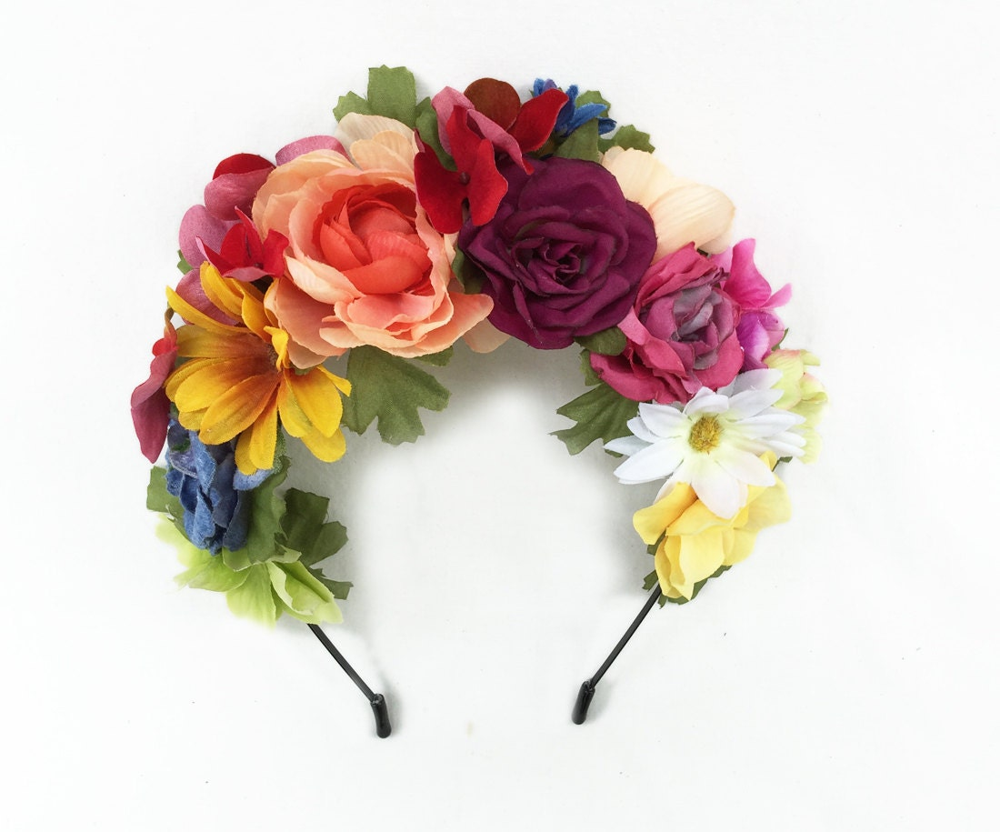 Day Of The Dead Flower Crown Frida Kahlo