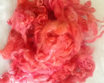 Hollyhock Blast, Cotswold locks,2 oz., spin,weave,craft