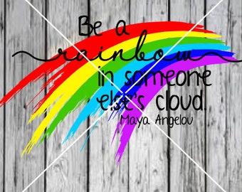 Be a rainbow SVG