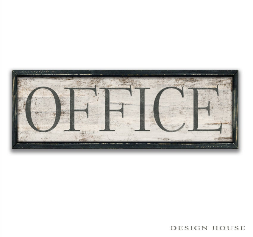 Office Sign Wall Art Plaques Home Decor
